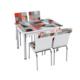 Evistro Cam Mutfak Masa Sandalye Takımı 4+1