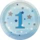 Alins One Little Star 1 Yaş Parti Tabağı Küçük 18 Cm 8 Adet ( Mavi )