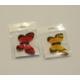 İkili Kırmızı Kelebek Buzdolabı Magneti