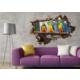 3D Art Papağanlar – 3D Sticker 150x100 cm