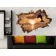 3D Art Göl ve Kayık – 3D Sticker 150x100 cm