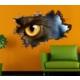 3D Art Kedi Bakış – 3D Sticker 70x45 cm