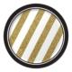 Alins Black & Gold Parti Tabağı Küçük 18 Cm 8 Adet