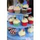 Sweetsorcery Mavi Puantiyeli Cup Cake Standı(Kapsül Hediyeli)