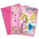 Sweetsorcery Disney Prensesler Davetiye 6 Adet
