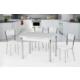 Azzore Ahşap Masa Sandalye Takımı - Açılır Mutfak Masası