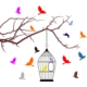 Sticker Masters Ağaç Ve Kuşlar Duvar Sticker