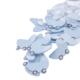 Loveq Mavi Puset Süs 40'Lı Paket 3X3 Cm Drn-48932