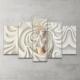 Plustablo Dekoratif Özel Tasarım 5 Parça Mdf Tablo 100X60 Cm