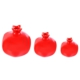 Ubi Home 3'lü Dekoratif Seramik Kırmızı Eko Nar Biblo