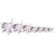 Ubi Home Dekoratif Gümüş 7'li Fil Porselen Taşlı