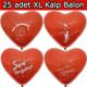Direkstoktan Kırmızı Kalp Balon 25 Adet Seni Seviyorum Baskılı Evlilik Teklifi Balonu