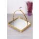 Queen's Kitchen Aynalı Gold Kare Kulplu Sunum