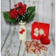 Miss Cici Sevgiliye Hediyelik Vazoda Kırmızı Güller Ve Çikolata Seti
