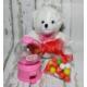 Miss Cici Doğum Günü Hediyesi Peluş Ayıcık Ve Şeker Sakız Makinesi