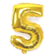 """Cin 16"""" 40 cm. 5 Rakamı Altın Rengi Folyo Balon cin84-5"""