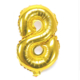 """Cin 16"""" 40 cm. 8 Rakamı Altın Rengi Folyo Balon cin84-8"""