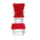 Asedia Teksas Puflu Sallanan Kırmızı Sandalye