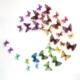 3D Kelebekler 35 Adet