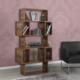 Pasific Home Box Kitaplık Hareli Ceviz