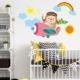 DekorLoft Şirin Pilot Çocuk Odası Sticker CS-237