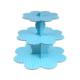 Kullanatmarket Bebek Mavisi Puantiyeli Cupcake Standı