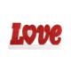 Kullanatmarket Simli Kırmızı Love Duvar Süsü 47Cm