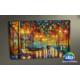 Evmanya Deco Aşk Yolu Leonid Afremov Led Işıklı Kanvas Tablo 45x65 cm