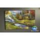 Evmanya Deco Manzara Köy Naturel Led Işıklı Tablo 45x65 cm