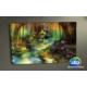 Evmanya Deco Çiçekli Manzara Köy Evi Led Işıklı Tablo 45x65 cm