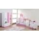 Dessenti Miray Bebek Odası Takımı Beyaz-Pembe