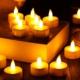 Işıklı Dumansız Led Pilli Mum 24 Adet Pil Dahil