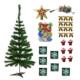 Partioutlet 120 Cm Lik Çam Ağacı + 38 Adet Süs Paketi