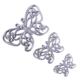 Ubi Home 3'lü Dantelli Kelebek Gümüş