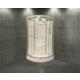 Shower 120*120 Aqua Oval Duş Teknesi Üzeri H:216 Siyah Compact Sis-Iıı