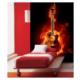 Artikel Ateşli Gitar 89X140 Cm Duvar Resmi