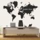 Dekorloft Dünya Haritası Yazılabilir Sticker 100X63 Cm