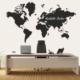 Dekorloft Dünya Haritası Yazılabilir Sticker 200X117 Cm