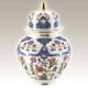 Kütahya Porselen 20 Cm El Yapımı Kapaklı Küp Dekor No:01415