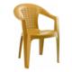 Gardelia Lux 1 Adet Plastik Koltuk Sandalye Takımı 1.Sınıf Kahve