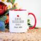 Soppigo Kişiye Özel Kırmızı Renkli Almanca Öğretmeni Kupa Bardak (Bayan)