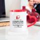 Soppigo Kişiye Özel Bilgisayar Mühendisi Kalpli Kupa Bardak - Kırmızı
