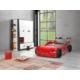 Evmanya Haus Eco Arabalı Yatak - Kırmızı (Ledli)