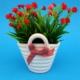 Seramik Saksılı Kırmızı Kıtır Çiçek