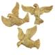 Üçlü Kuş Duvar Süsü Altın