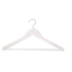 4'lü Ahşap Elbise Askısı Koyu Beyaz Renk
