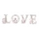 Kurdelya Melekli Gül İşlemeli Love Yazısı Boyanabilir Polyester Obje