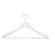 3'lü Ahşap Elbise Askısı Koyu Beyaz Renk