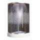 Drophill 4001 90 x 90 Oval Duş Teknesi + 4 mm Gusto Desenli Füme Duşakabin