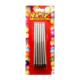 KullanAtMarket Gümüs Yaldiz Dogum Günü Mum 14 cm